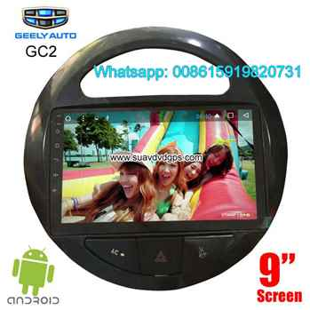 Geely GC2 car radio android wifi GPS 4G network insert sim card camera